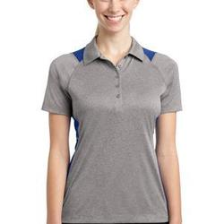 Sport Tek Ladies Heather Colorblock Contender ™ Polo