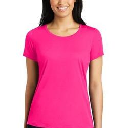 Ladies PosiCharge Competitor Cotton Touch Scoop Neck Tee - Sublimated