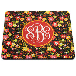 Black Back Rectangle Mouse Pad, 7.75 x 9.25 x .22(5.5mm). Polyester with open cell black rubber back