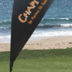 8ft Teardrop Flag Banner (Single Sided)