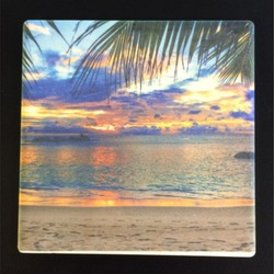 Square Sandstone Coaster (Sublimated)