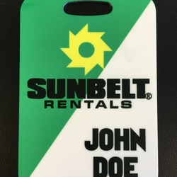 Aluminum Luggage Tag (Sublimated)