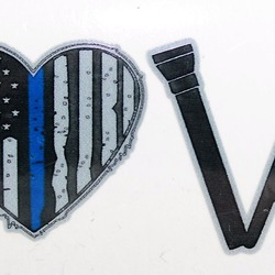 LOVE Thin Blue Line Decal 4in or 6in