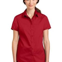 Ladies Short Sleeve SuperPro ™ Twill Shirt