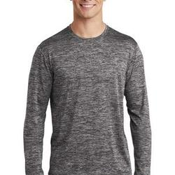 Sublimatable PosiCharge Long Sleeve Electric Heather Tee