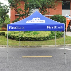 10ft x10ft Canopy Tent Full Color Print with Hexagon-Leg Aluminum Frame