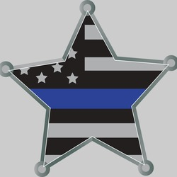 "Star Blue Line Decal 2"" or 4"""