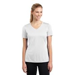 Sublimatable Ladies PosiCharge Competitor V Neck Tee