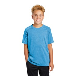 Youth Sublimated PosiCharge Tri Blend Wicking Raglan Tee